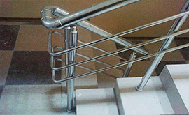 قیمت انواع نرده های استیل راه پله