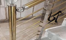 فروش اینترنتی جدیدترین نرده استیل ساختمان