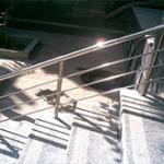 نرده استیل ورودی ساختمان