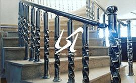 نرده استیل راه پله و قیمت