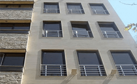 نرده استیل نمای ساختمان