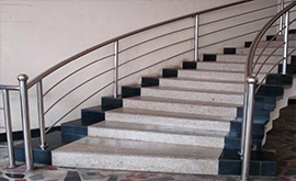 نرده استیل راه پله در کرج