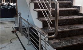 نرده استیل ضد زنگ برای راه پله