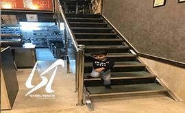خرید مستقیم نرده استیل راه پله