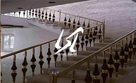 فروش نرده استیل چوب راه پله طرحدار
