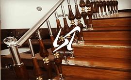 فروش نرده استیل چوب برای پله